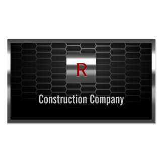 Steel Grids Monogram Construction Business Card