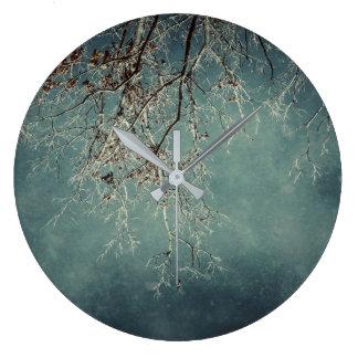 Steel Grunge Large Clock