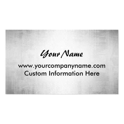 Steel Grunge Metal Plate Business Cards