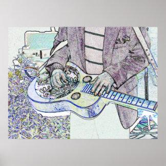Steel Guitar Poster