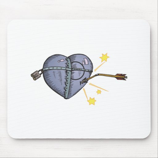 steel heart mouse pad
