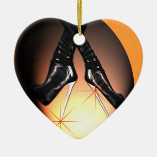 Steel Heeled Boots Ceramic Ornament