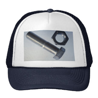 Steel hex bolt with hex nut trucker hat
