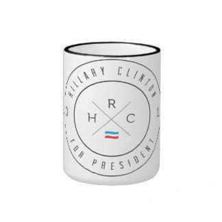 Steel Hillary Clinton for President Ringer Coffee Mug