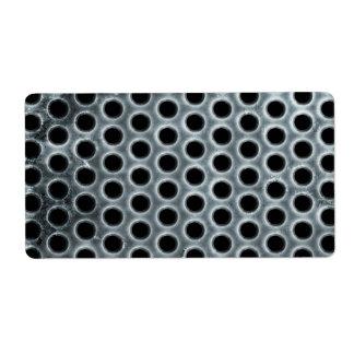 Steel Holes Metal Mesh Pattern Label