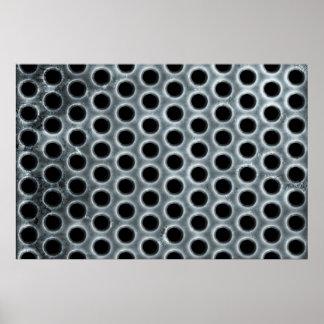 Steel Holes Metal Mesh Pattern Poster