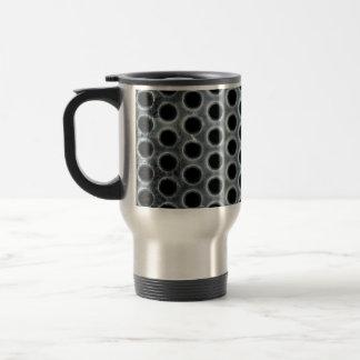 Steel Holes Metal Mesh Pattern Travel Mug