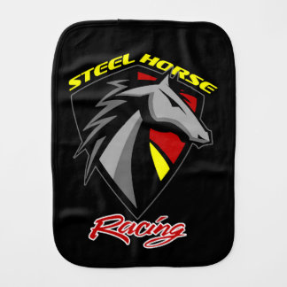 Steel Horse Racing Burp Cloth