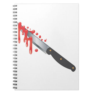 Steel Knife with Blood Notebook