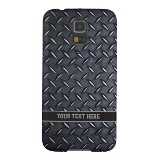 Steel look Custom Text Galaxy case