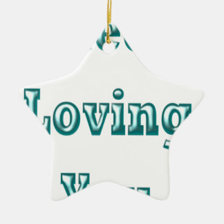 Steel Loving You nice cute design Ceramic Ornament