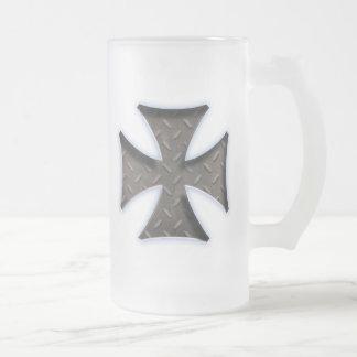 Steel Maltese 416 Frosted Glass Beer Mug