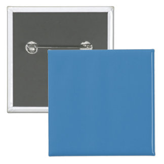 Steel Medium Sky Blue Solid Trend Color Background 2 Inch Square Button