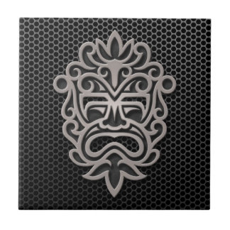 Steel Mesh Aztec Mask Small Square Tile