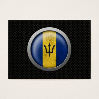 Steel Mesh Barbados Flag Disc Graphic Business Card