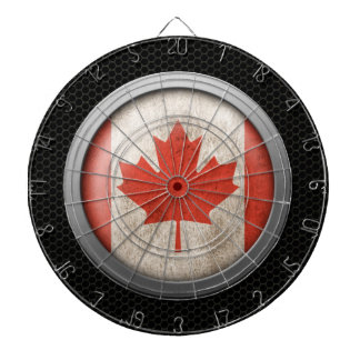 Steel Mesh Canadian Flag Disc Graphic Dartboard With Darts