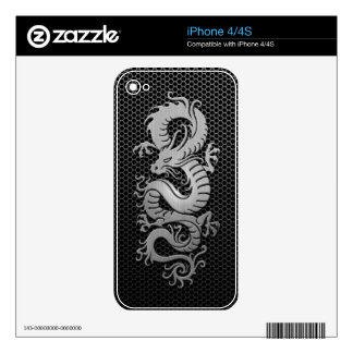 Steel Mesh Chinese Dragon iPhone 4 Decal