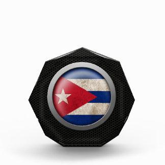 Steel Mesh Cuban Flag Disc Graphic Award