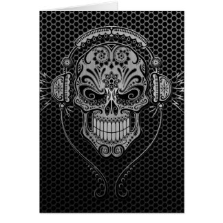 Steel Mesh DJ Sugar Skull Card