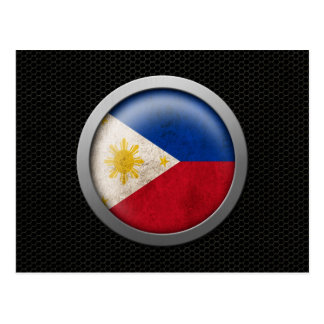 Steel Mesh Filipino Flag Disc Graphic Postcard