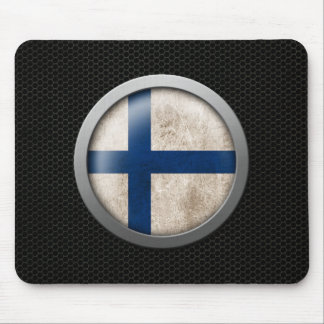 Steel Mesh Finnish Flag Disc Graphic Mouse Pad