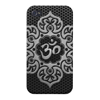 Steel Mesh Floral Om iPhone 4/4S Cases