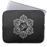 Steel Mesh Floral Om Laptop Sleeves