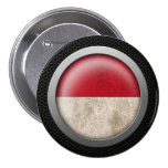 Steel Mesh Indonesian Flag Disc Graphic Buttons