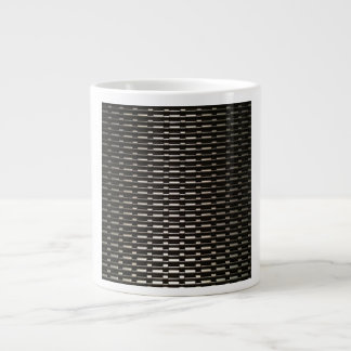 Steel Mesh industrial pattern 20 Oz Large Ceramic Coffee Mug