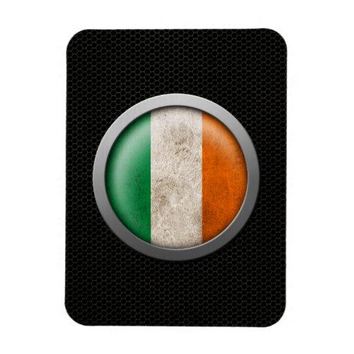 Steel Mesh Irish Flag Disc Graphic Magnet