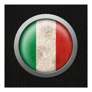 Steel Mesh Italian Flag Disc Graphic Card
