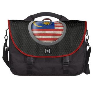 Steel Mesh Malaysian Flag Disc Graphic Computer Bag