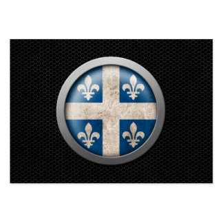 Steel Mesh Quebecois Flag Disc Graphic Business Card Template