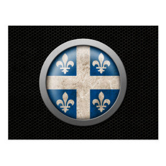 Steel Mesh Quebecois Flag Disc Graphic Postcard