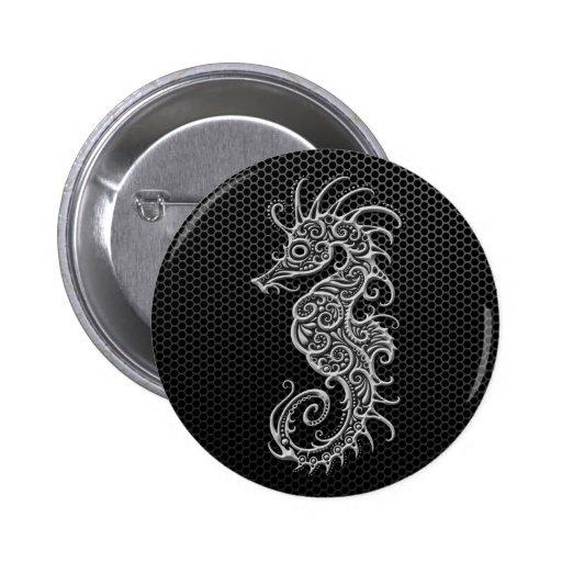 Steel Mesh Seahorse Pins