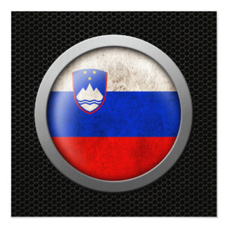 Steel Mesh Slovenian Flag Disc Graphic Card