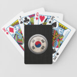 Steel Mesh South Korea Flag Disc Graphic Bicycle Poker Deck