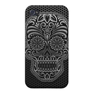 Steel Mesh Sugar Skull Cases For iPhone 4
