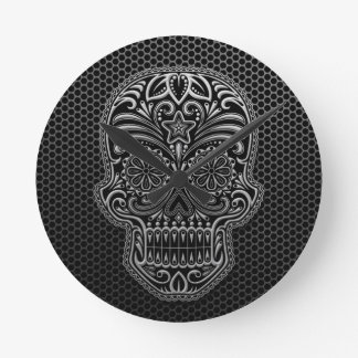 Steel Mesh Sugar Skull Wall Clocks