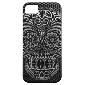 Steel Mesh Sugar Skull iPhone SE/5/5s Case