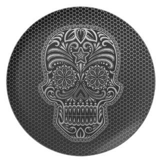 Steel Mesh Sugar Skull Dinner Plates