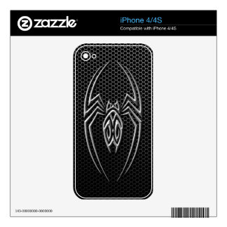 Steel Mesh Tribal Spider Skin For iPhone 4