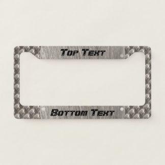 Steel metal 0132 license plate frame
