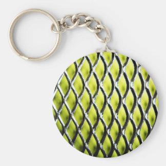 Steel Metal Glossy Fine Digital Art Beautiful Ligh Basic Round Button Keychain