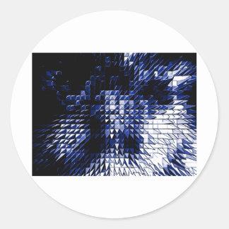 Steel Metal Glossy Fine Digital Art Beautiful Ligh Classic Round Sticker
