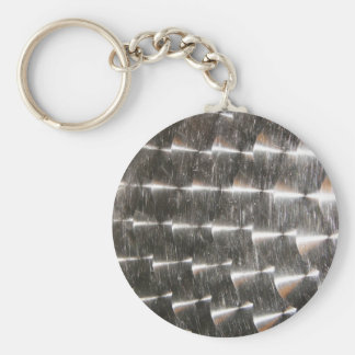 Steel Metal Glossy Fine Digital Art Beautiful Ligh Keychain