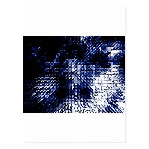 Steel Metal Glossy Fine Digital Art Beautiful Ligh Post Cards