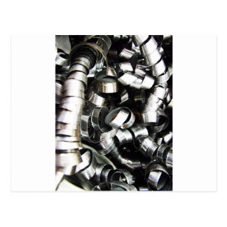 Steel Metal Glossy Fine Digital Art Beautiful Ligh Postcard