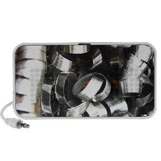Steel Metal Glossy Fine Digital Art Beautiful Ligh Speaker System