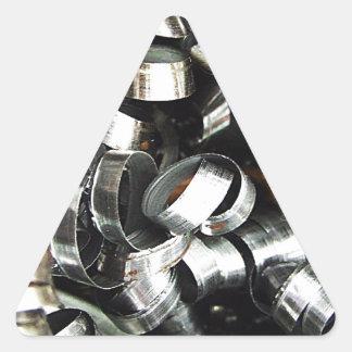 Steel Metal Glossy Fine Digital Art Beautiful Ligh Triangle Sticker